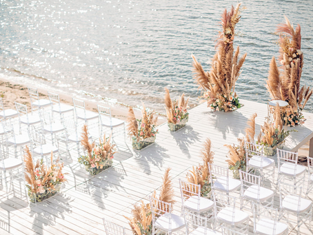 Trendy Beach Wedding Ceremony Inspirations