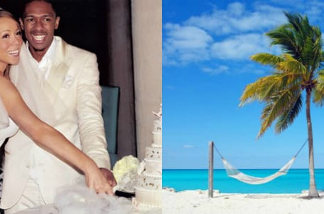 Which Celebrities  tied the knot  with a destination wedding to the tropics?