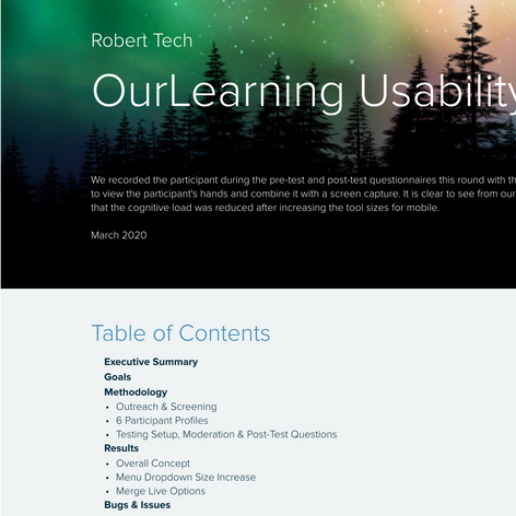 Usability Testing Report