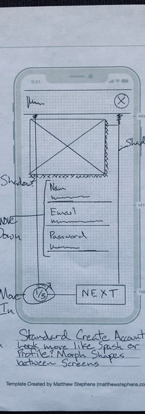 iPhone X Hand Drawn Sketch