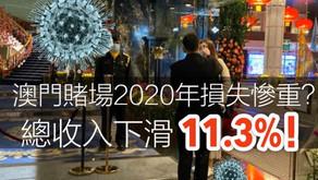 武漢肺炎 澳門賭場2020年損失慘重? 總收入下滑11.3%!