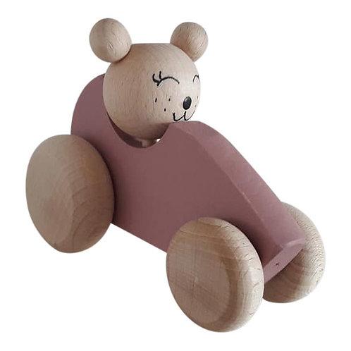 Kids Boetiek - Bär im Auto dusty pink