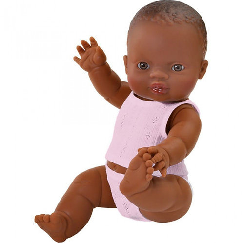 Paola Reina - Schwarze Puppe Mädchen mit Unterwäsche