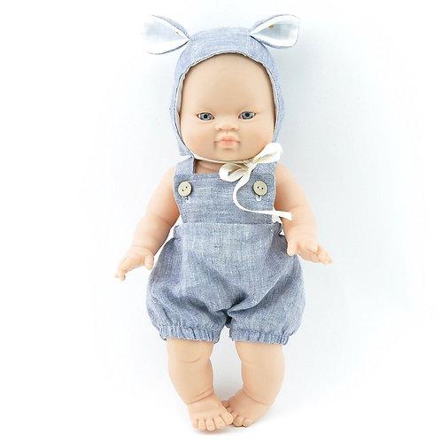 Paola Reina Puppenset Bär Blau