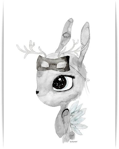 "By Christine Hoel - Poster ""Deer"" A3"