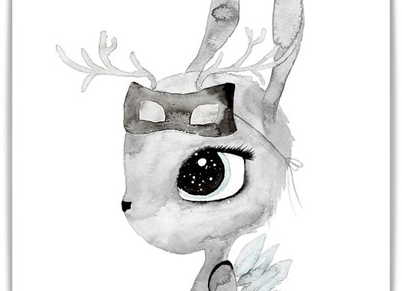 """By Christine Hoel - Poster """"Deer"""" A3"""