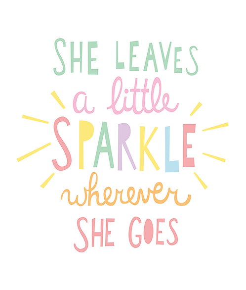 "Mini Learner - Poster 50x70 ""SHE LEAVES A SPARKLE"""