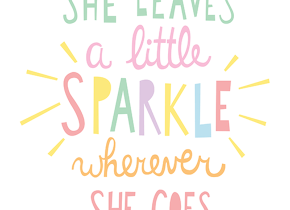 "Mini Learners - Poster ""A LITTLE SPARKLE"""