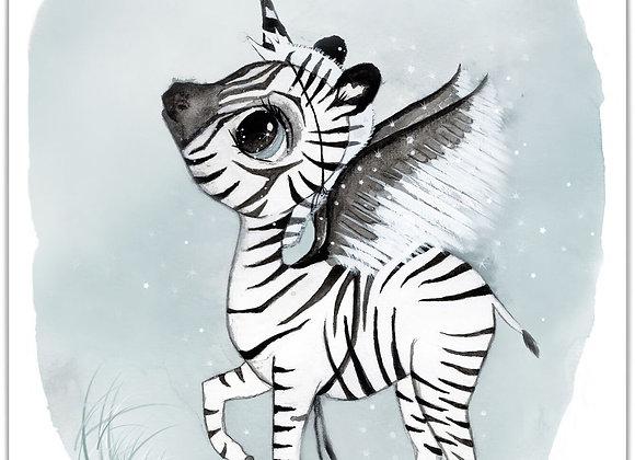 """By Christine Hoel - """"Zebra"""" 50x70cm"""