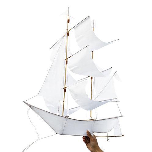 Segelschiff-Drachen Weiss