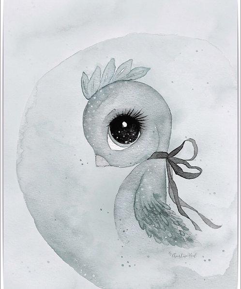 "By Christine Hoel- ""Bird"" 40x50cm"