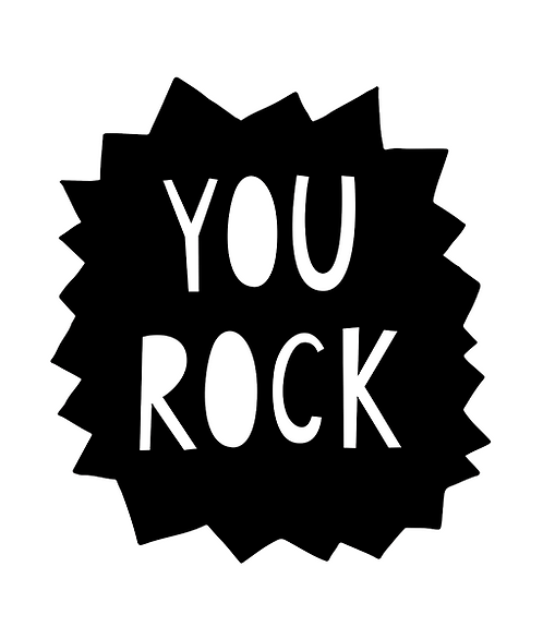 "Mini Learner - Poster 50x70 ""YOU ROCK"""