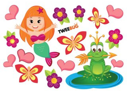Tweebug wasserfeste Sticker Frog Prince DIN A6