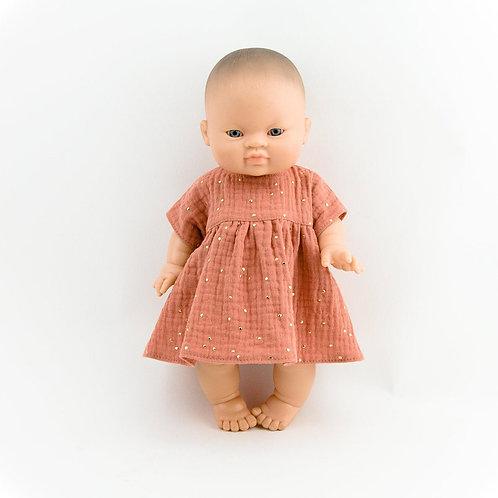 Musselin-Puppenkleid