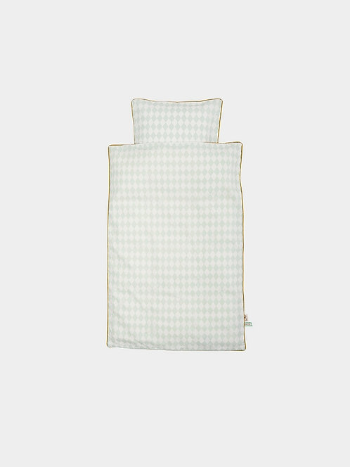 Ferm Living - Bettwäscheset Harlequin mint Baby
