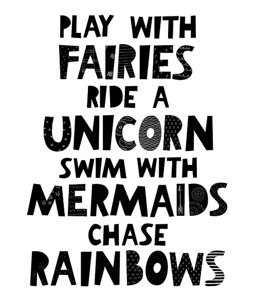 """Mini Learners - Poster """"PLAY WITH FAIRIES"""""""