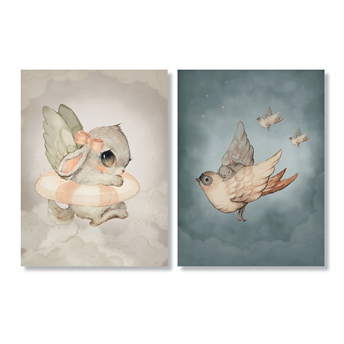 "Mrs Mighetto - 2-Pack Karten ""Sky Crew"" 10x15cm"