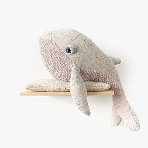 The Whale Original Big - 83cm Grau