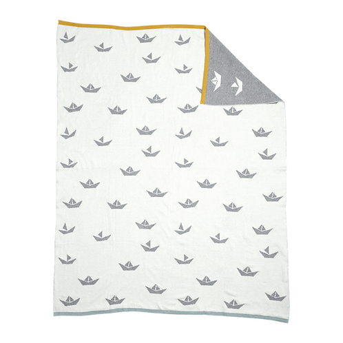 Fabelab - Decke mit kleinen Schiffen
