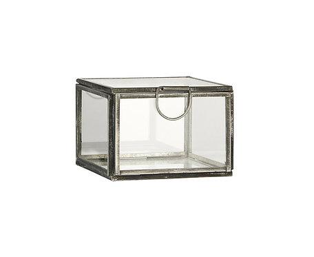 Glasbox mit Deckel klein