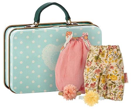 Koffer mit 2 Kleidern für Mädchen - Maileg