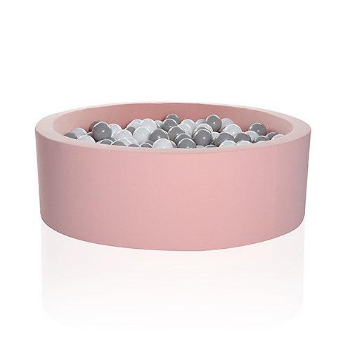 Kidkii Bällebad Light Pink - 200 Bälle Weiss / Grau
