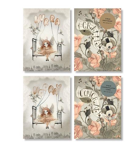 Mrs. Mighetto - 2 Geburtstagskarten