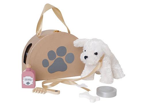 Plüschhund in Tasche von Jabadabado