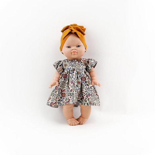 Puppenkleid mit Turban