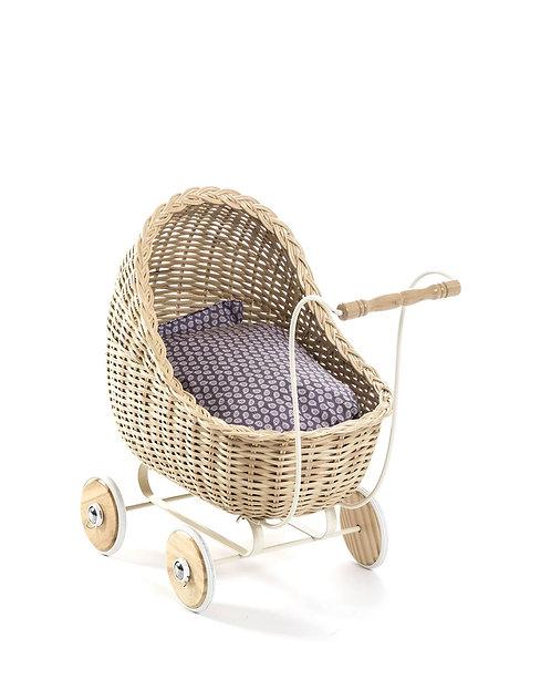 Smallstuff - Puppenwagen Rattan natur