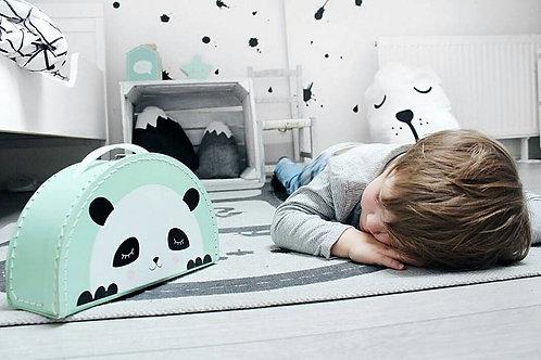 Kids Boetiek - Suitcase Panda mint