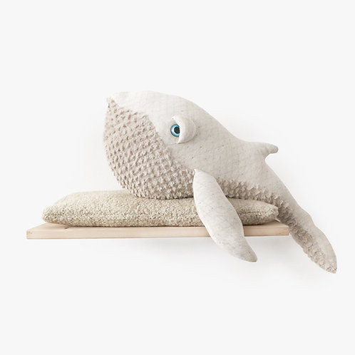 TheWhale Albino Big - 83cm Weiss