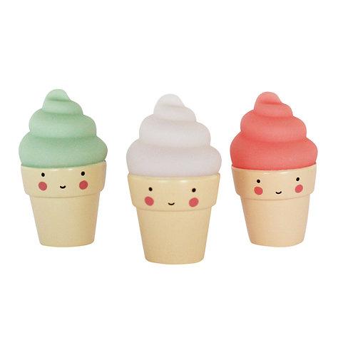 Mini Kollektion: Eis in rosa, weiss und mint