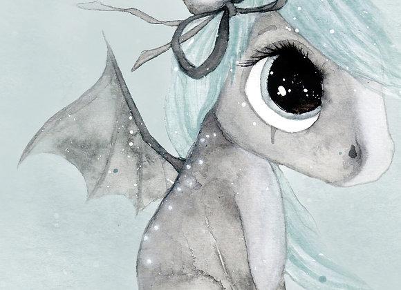 "Christine Hoel - Poster ""Tiny Dragon"" A4"