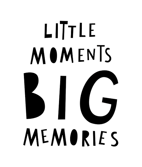 "Mini Learners - Poster ""LITTLE MOMENTS BIG MEMORIES"""