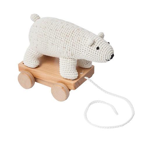 Sebra - Häkel-Nachziehtier, Eisbär