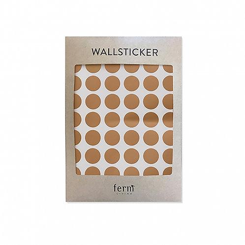 Ferm Living - Wallsticker Punkte gold