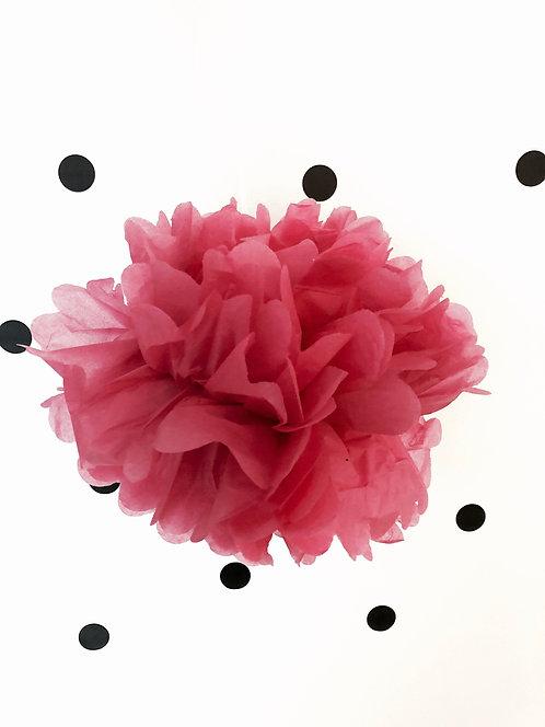 Seidenpapier Pompons 3 Set (2x rosa 30/1x rosa 25)
