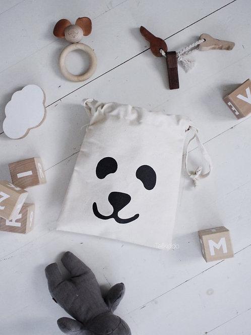 "Tellkiddo - Kleiner Stoffsack ""Panda"""