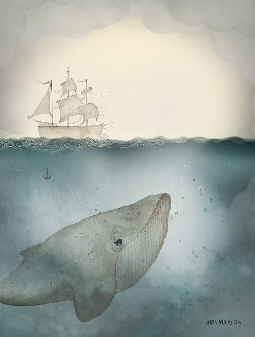 "Mrs Mighetto - Poster ""Ocean"" 18x24 cm"