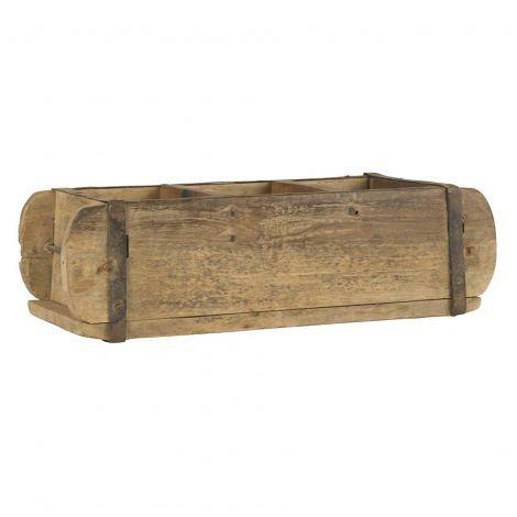 Holzschachtel Ziegelform mit 3 Fächern