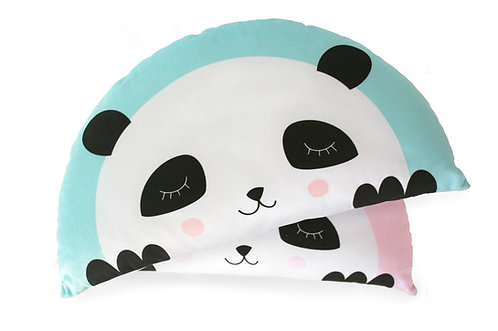 Kids Boetiek - Kissen Panda mint-blau