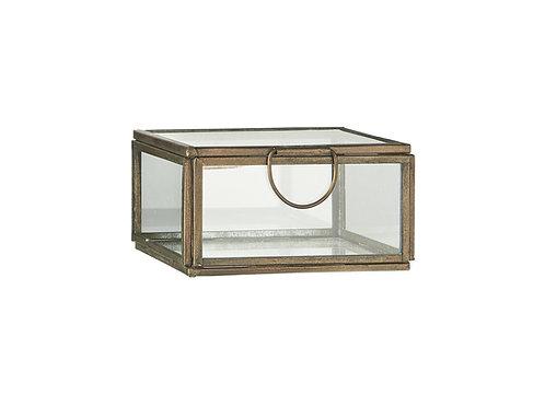 Glasschachtel mit Deckel klein