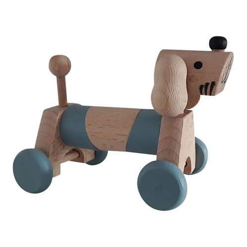 Kids Boetiek - Holz Hündchen blau