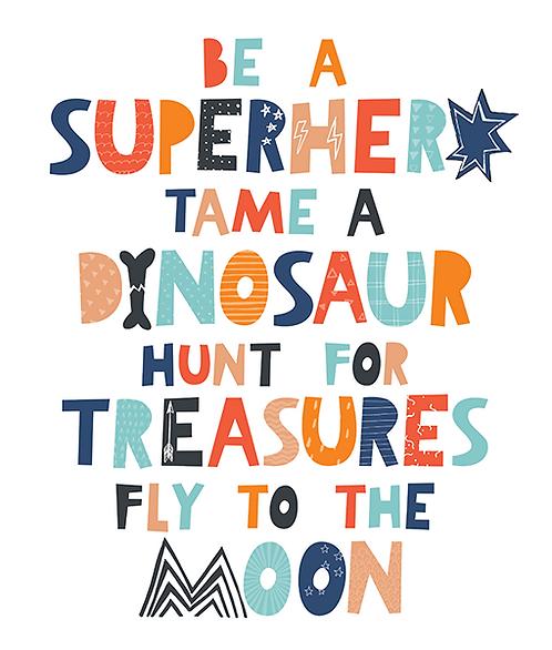"Mini Learners - Poster ""SUPERHERO"""