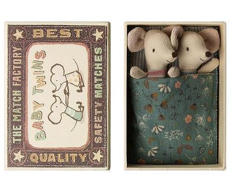 Zwillings-Baby-Mäuse im Kästchen - Maileg