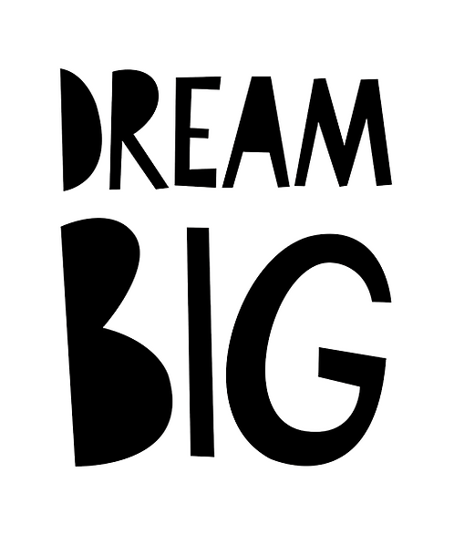 "Mini Learners - Poster ""DREAM BIG"""