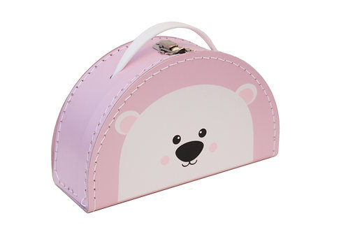 Kids Boetiek - Suitcase Polarbär rosa