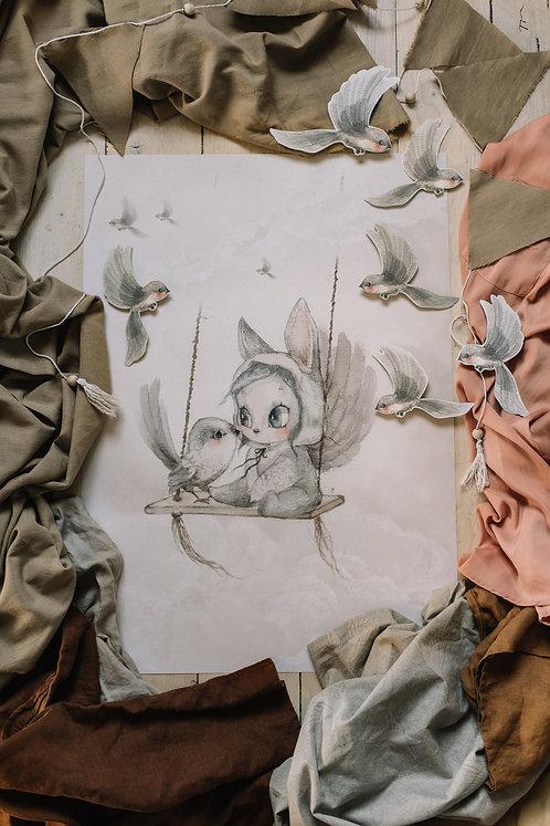 Mrs. Mighetto - MINI BIRD MASTER 50x70