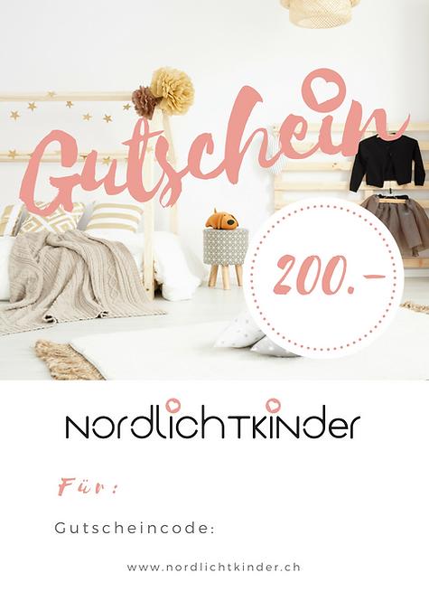 NordlichtKinder - Gutschein 200.-